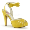BETTIE-01 Yellow Faux Leather